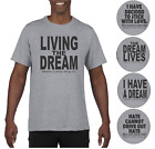 Martin Luther King Jr. Day 2018 Gray Short Sleeve T-shirt Dream Love