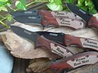 Personalized 6 To 10 Custom Engraved Pocket Knives. Weddings & Groomsmen Gifts.