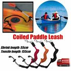 Elastic Coiled Paddle Safety Rod Leash Boats Raft Swivel Stretch Rope LN