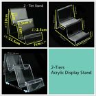 2 x 2-Tiers Clear Acrylic Retail Fashion Shop Display Stand Handbags Purse