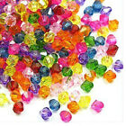 Acrylic 5mm Faceted Beads, Mix Colors