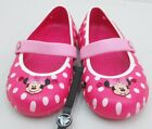 Crocs TODDLER GIRLS Keeley Minnie Candy Pink Carnation Polka Dot Flat Shoes NEW