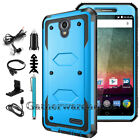 For ZTE Prestige / N9132 /Maven 3 Case Shockproof Armor Hybrid Rubber Hard Cover