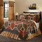 5pc Maisie Country Primitive Stars Quilt Shams Pillow Skirt Bed Set Vhc Brands