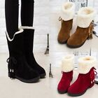 Women's Winter warm High heels Snow Ankle Boots Fur Lined Martin Popular shoes