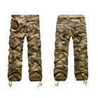 Mens Outdoor Camouflage Casual trousers Multi-Pocket Overalls Loose Cotton Pants