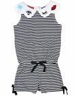Kate Mack Girls' Striped Romper Oodles of Doodles, Sizes 4-12