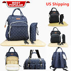 Baby Diaper Nappy Bag Backpack for Mom and Dad Organizer Handbag&Changing Pad