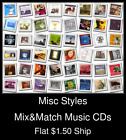 Misc Styles(24) - Mix&Match Music CDs U Pick *NO CASE DISC ONLY*