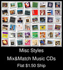 Misc Styles(35) - Mix&Match Music CDs U Pick *NO CASE DISC ONLY*