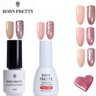2Bottles Born Pretty UV Gel Nail Polish  Rose Glitter Soak Off Gel Varnish