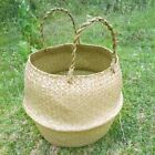 Seagrass Woven Potted Plants Storage Home Flower Vase Hanging Basket @@