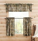 Realtree Xtra Window Cafe Tier 36 Pair or 14x60 Valance Camo Curtain Lodge Cabin