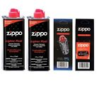 Genuine Original Zippo Premium  Lighter Fuel Fluid Refill ,1 Wick  & 6 Flints