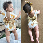 US Stock Kids Baby Girl Clothes Outfits Valentine Love Romper Jumpsuit Sunsuit
