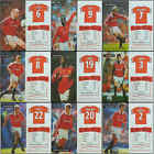 SAM SPLATZ football card / temporary tattoos Manchester United  - VARIOUS