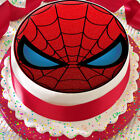 SPIDERMAN MASK RED & BLACK 7.5 INCH PRECUT EDIBLE BIRTHDAY CAKE TOPPER