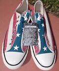white red blue flags - Converse CTAS 150429F Frayless Slip On RED WHITE & BLUE FLAG PATTERN USA NEW NWB