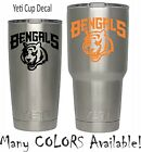 Cincinnati Bengals Football Decal for NFL YETI Tumbler 20 30 Ozark RTIC Sticker $2.24 USD on eBay