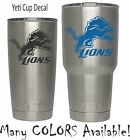 Detroit Lions Football Decal for NFL YETI Tumbler 20 30 Ozark RTIC Sticker on eBay