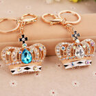 Fashion Crystal Crown Shape Women Key Chain Key Ring Handbag Pendant Ornament