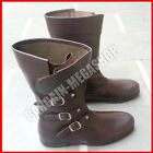 Mens Medieval Shoes Renaissance Combat Boots Footwear Cowboy Leather Shoes