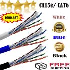 cat 5 cat 6 cable - 1000FT CAT5E CAT6 Cable 1000FT UTP Solid Network Ethernet Bulk Wire RJ45 Lan TO