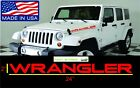 JEEP WRANGLER Vinyl Decal Sticker windshield Emblem Logo Graphic x 2