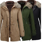 womens long winter coats - Hot US Winter Men Women Coat Warm Outwear Fleece Hoodie Parka Waist Long Coats
