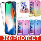 New ShockProof 360 Hybrid Silicone Case Cover for Apple iPhone X 8 7 6S Plus XS <br/> 360 degree Full Protection-UK Seller- 1st Class Post