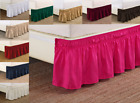 "VERSATIL DUST RUFFLE AROUND ALL CORNERS 1PC BED BEDDING ELASTIC SKIRT 14"" KING image"