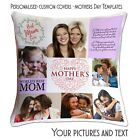 Mothers Day Personalised Photo Cushion Cover  Collage picture template-Mum-02 ❤❤