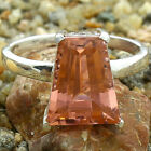 Simulated Peach Morganite 925 Sterling Silver Ring Jewelry Size 6-9 DGR1076_I