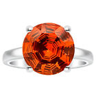 Padparadscha Sapphire 925 Sterling Silver Ring Jewelry DGR1079_E