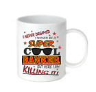 Coffee Cup Mug Travel 11 15 oz I Never Dreamed Be Super Cool Banker