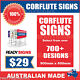 Custom Corflute Signs 900mm x 600mm x 5mm  - 700+ Designs