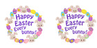 Happy Bunny & Happy Easter 24 x 40 mm round  stickers