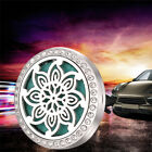 10Styles Stainless Car Air Vent Freshener Essential Oil Diffuser Locket Car Gift