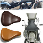 Motorcycle Soft Leather Seat Spring Solo For Harley Dyna Softail Bobber Chopper