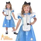 Child Alice Costume Wonderland Tea Party Girls Book Week Day Fancy Dress Outfit