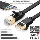 Network Ethernet Modem 10Gbps Gigabit LAN Flat Ultra Thin Cable RJ45 CAT7  Sale