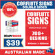 Custom Corflute Signs 900mm x 600mm x 5mm Double Sided - 700+ Designs