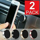 2-pack Magnetic Car Dashboard Mount Holder For Cell Phone Samsung Galaxy Iphone