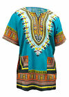Blue African Print Dashiki Shirt from Small to 7XL Plus Size DP3751