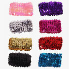 Women Bling Sequin Wristband Elastic Bracelet Stage Hand Wrist Strap Jewelry