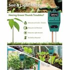 3In1 Soil Tester Meter for Garden Lawn Plant Pot MOISTURE LIGHT PH Sensor%C