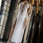 Hot Women Bandage Lingerie Long Skirt Temptation Underwear Nightdress Sleepwear