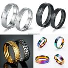 Unisex Titanium Stainless Steel Lovers Band Ring FF