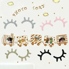1Pair Cute Sleepy Eyes Lashes Vinyl Decal Stickers for Childs Room Wall 5 Colors