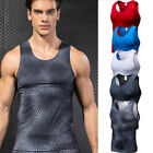Men's Compression Top Running Basketball Gym Workout Tank Top Dri fit Spandex